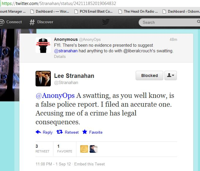 Lee Stranahan Calls the Police to Silence a Liberal, Fails