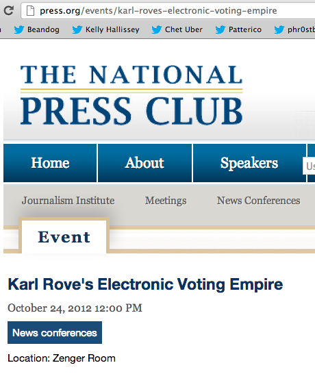 Karl Rove's Electronic Voting Empire