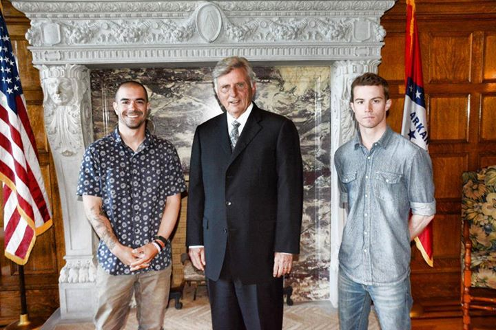 Shatarsky and Senopole meeting Governor Mike Beebe in Little Rock last week.